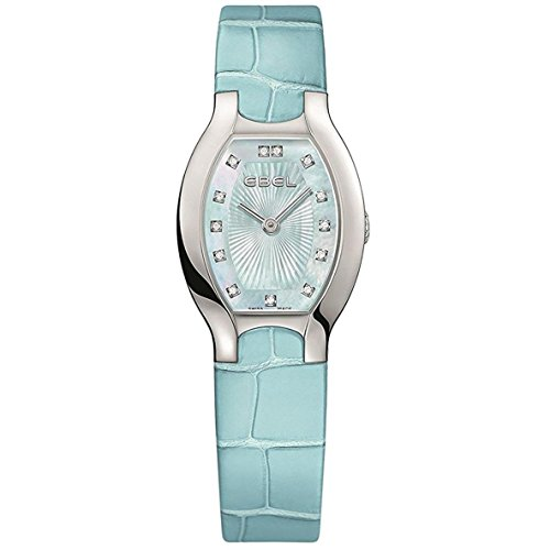 Ebel Women's Blue Leather Band Steel Case S. Sapphire Quartz Analog Watch 1216248