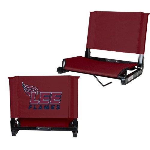 CollegeFanGear Lee University Stadium Chair Maroon 'Official Logo' by CollegeFanGear