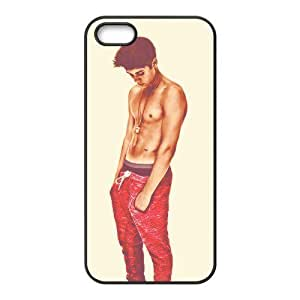 ePcase Well-known Charming Justin Bieber Printed Black Soft PC Case Cover for Apple iPhone 5