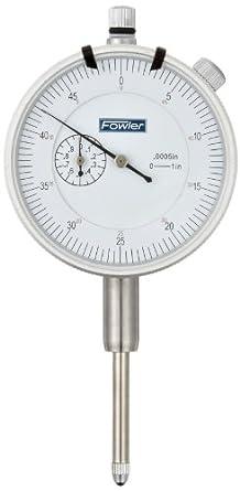 Fowler 52-520-110-2 Brass Premium Dial Indicator White Face 1 Total Travel