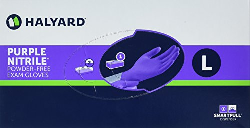 Haylard Health Purple Nitrile Exam Gloves, Large, 100 Count