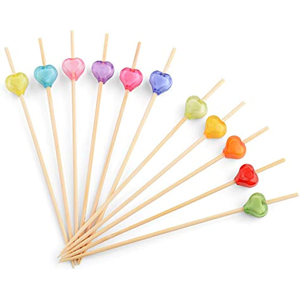 Bamboo Cocktail Skewers 4.7 Inch, Fancy Appetizer Dcor