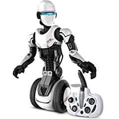Humanoid companion bot The Sharper Image RC OP One Robot puts the future in the palm of your hand. This cool android performs, dances and even spies. Listen to secret messages OP One hears, send them back to remote, disguise your voice and se...