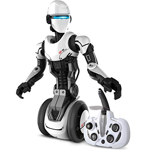 SHARPER IMAGE RC Humanoid OP One Robot, Cool Sci-Fi Android with Moving Arms and Gripping Hands, Dances, Plays, Performs, Spy Mode, Voice, Wireless Control, Full Directional Movement, Battery Power