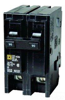 Square D Circuit Breaker, 90 Amp, 2-Pole, HOM290