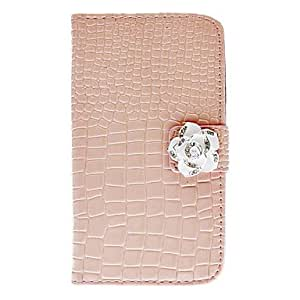 TOPAA ships in 48 hours sold out Exquisite Rhinestone Camellia Design Alligator Grain Leather Case for Samsung Galaxy S3 I9300