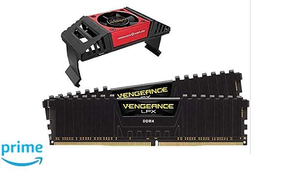 2x16GB Black Corsair Vengeance RGB Pro 32GB PC4-25600 DDR4 3200 C16 AMD Optimized Memory
