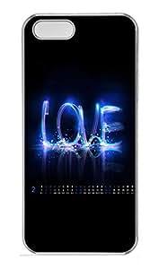 iPhone 5 5S Case Blue Love PC Custom iPhone 5 5S Case Cover Transparent