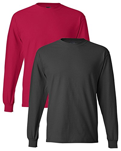 Hanes Adult Beefy-T Long-Sleeve - International Hanes Shipping