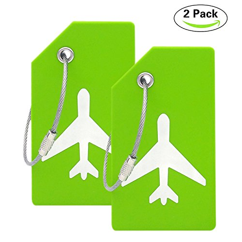Silicone Luggage Tag With Name ID Card Perfect to Quickly Spot Luggage...
