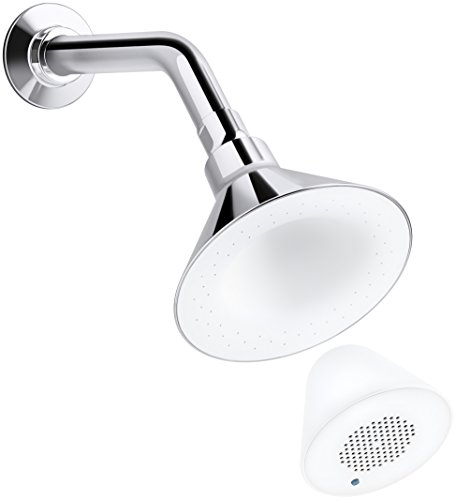 KOHLER K-9245-BN 2.5 GPM Moxie Showerhead and Wireless Speaker, Vibrant Brushed Nickel