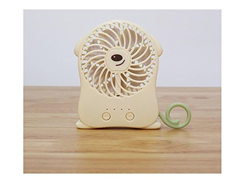Yunqir Compatible USB Portable Lovely Cartoon Animal Handheld Mini Folding Fold Fan (Beige) by Yunqir