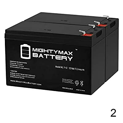 Mighty Max Battery 12V 7AH Razor Scooter ES300 E200 E300 Bella Betty Daisy Vapor - 2 Pack Brand Product: Electronics