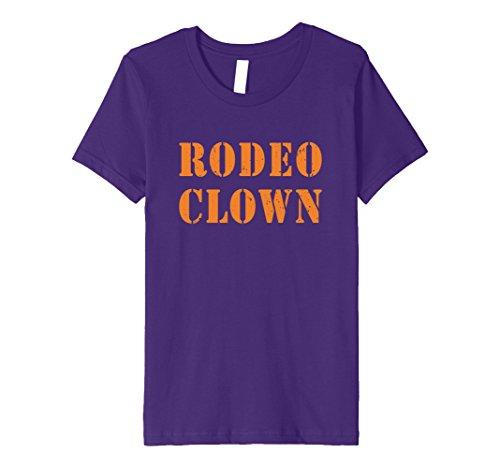 Rodeo Clown Costume (Kids Rodeo Clown Halloween T-Shirt 12 Purple)