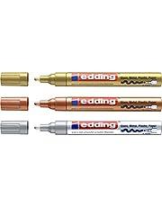 EDDING 750 marker do lakieru, zestaw 3 szt. | 9 kolorów i posortowane do wyboru! (zestaw 3 sztuk, różne kolory metaliczne)
