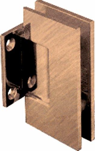 CRL Geneva Series Antique Brass Wall Mount Short Back Plate Hinge (Standard Model) Crl Geneva 074 Series