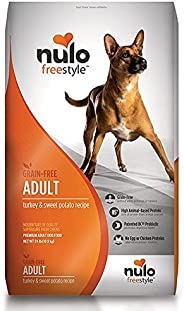Nulo Adult Dog Food: Grain Free, All Natural Dry Pet Kibble for Large and Small Breed Dogs - Lamb, Salmon, or