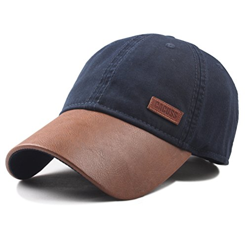 Buckle Cotton Cap Closure (CACUSS Men's Cotton Classic Baseball Cap Adjustable Buckle Closure Dad Hat Sports Golf Cap)
