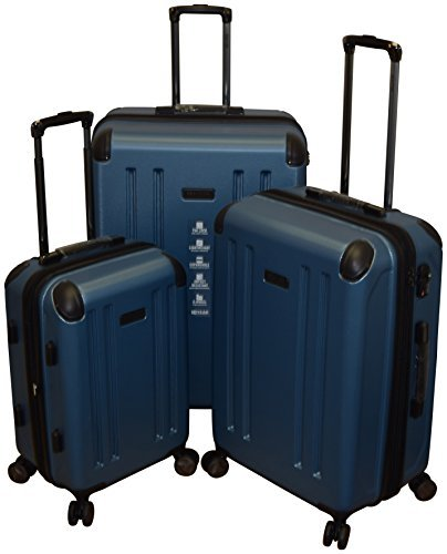 Collection Hardside Luggage - Kenneth Cole Reaction 8 Wheelin Collection Lightweight 3-PC Expandable Hardside Spinner Luggage Set (Blue)