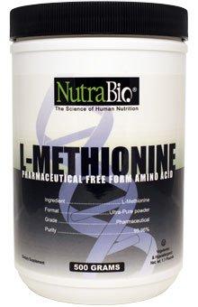 NutraBio L-Méthionine (750mg) - 500 capsules végétales