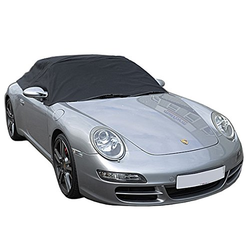 (Custom-fit Soft Top Roof Protector Half Cover for Porsche 911 996 997-1999 to 2011 (Black))
