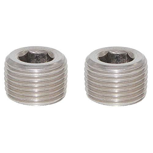 - Joyway 2Pcs Stainless Steel Internal Hex Countersunk Thread Socket Pipe Plug 1/2