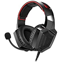 Amerzam Gaming Headset Stereo Surround Sound, LED Lighting & Noise Canceling Microphone PS4, Xbox One (Adapter Needed), Nintendo Switch (Audio) etc.