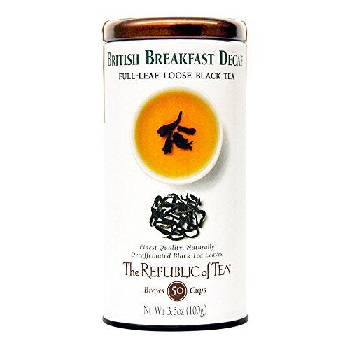 The Republic of Tea Decaf British Breakfast Black Full-Leaf Tea, 3.5 Ounces / 50-60 Cups