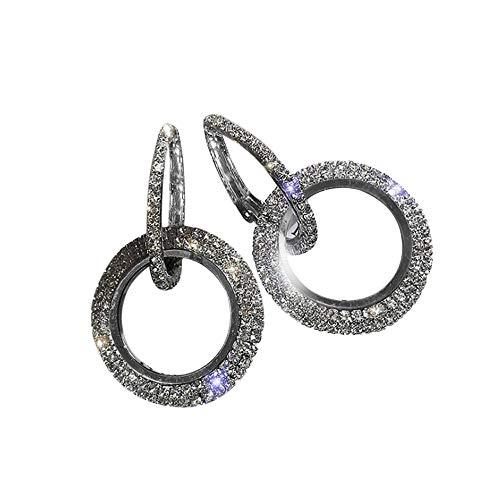 Celiy Luxury Round Diamond Earrings Women Silver Gold Rosego