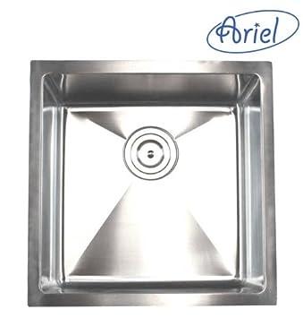 ariel   18 inch stainless steel undermount single bowl kitchen sink 15mm radius design ariel   18 inch stainless steel undermount single bowl kitchen      rh   amazon com