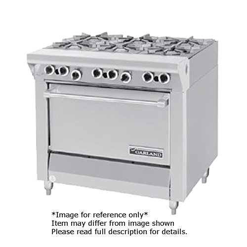 Garland MST43R-E Master Series Heavy Duty 34'' Gas Range with (6) 35,000 BTU Open Burners, (1) Standard Oven & Electric Ignition by Garland