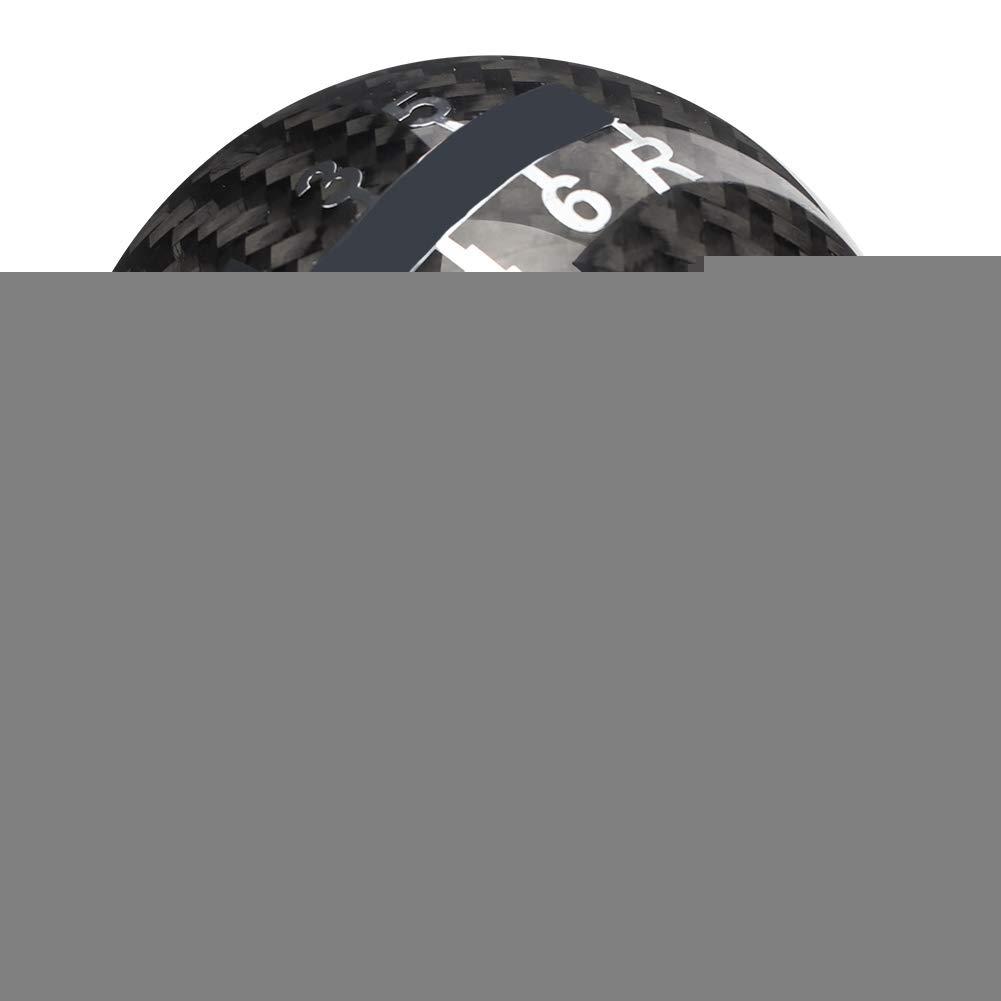 Fydun Auto Schaltknauf Auto Universal Manuelle Carbon Knopf Schalthebel Head Shifter Schwarz 6 Gang Mit 3 Kunststoffadaptern Schwarze rote Linie 8 mm, 10 mm, 12 mm
