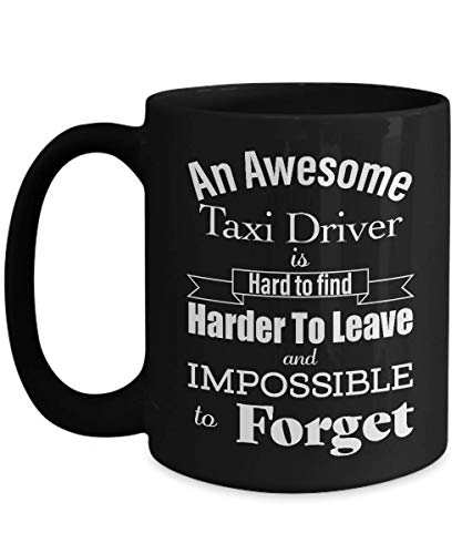 - Retirement Gifts for Taxi Driver Coffee Mug - Thank You, Appreciation, Leaving Job, Best, Farewell, Going Away, Memorable - Cab Private Hire Long Distance Airport Part Time - Black Cup - 15oz