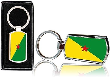 Port cles clef cle homme femme tissu brode imprime drapeau guyane guyanais