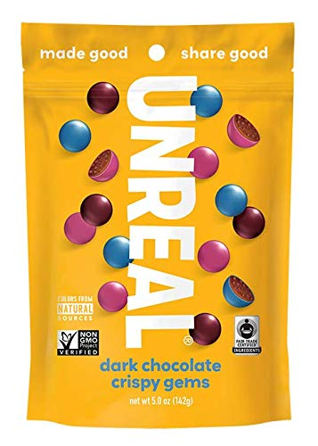 UNREAL Dark Chocolate Crispy Quinoa Gems - 6 Bags