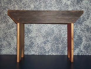 Amish Hand Crafted 18 Inch Barnwood Bench. Makes a Great Home and Garden Gift. Made From Decades Old Weathered Barnwood Found in Amish Country. This Is a Sturdy Bench That Adds Rustic Charm to Your Home and Graden Primitive Country Decor. For Sale