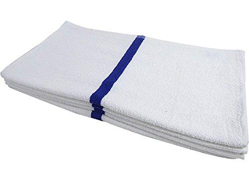RagLady Economy Striped Pool/Bath Towels - 22'' x 44'' - Case of 60