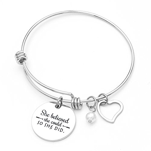 Charm Bracelet Adjustable Bangle Gift For Women Girl Sister Mother Friends