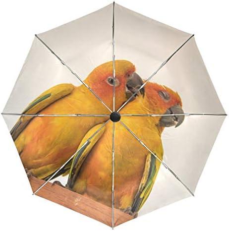 Chovy 折りたたみ傘 軽量 自動開閉 晴雨兼用 レディース 日傘 UVカット 遮光 ワンタッチ メンズ 鸚哥 インコ かわいい 可愛い おもしろ 雨傘 傘 晴雨傘 折り畳み 8本骨 遮熱 丈夫 耐風撥水 収納ポーチ付き プレゼント