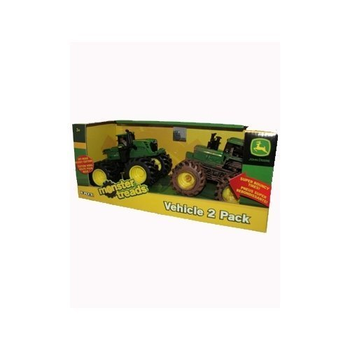 UPC 036881375630, John Deere ERTL Monster Treads-Off Road Muddy Edition Vehicle (2 Pack)