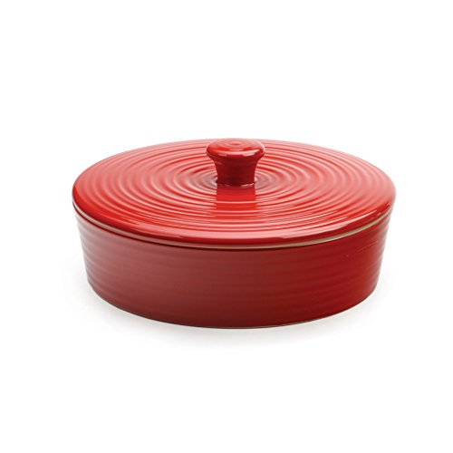 RSVP Stoneware Tortilla Warmer, Red, 8-inch