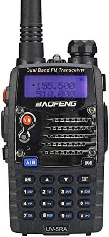 Baofeng UV5RA Ham Two Way Radio 136-174 400-480 MHz Dual-Band Transceiver Black