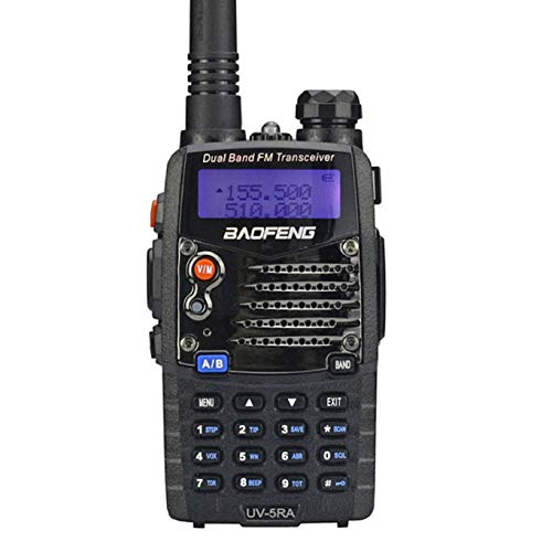 Baofeng UV5RA Ham Two Way Radio 136-174/400-480 MHz Dual-Band Transceiver (Black) (Ham Radio Motorola)