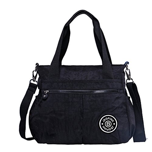 Women Shoulder Bags 3 Compartment Multi-pocket Lightweight Nylon Crossbody TotesTop-Handle Bags (Multi Compartment Shoulder Tote)