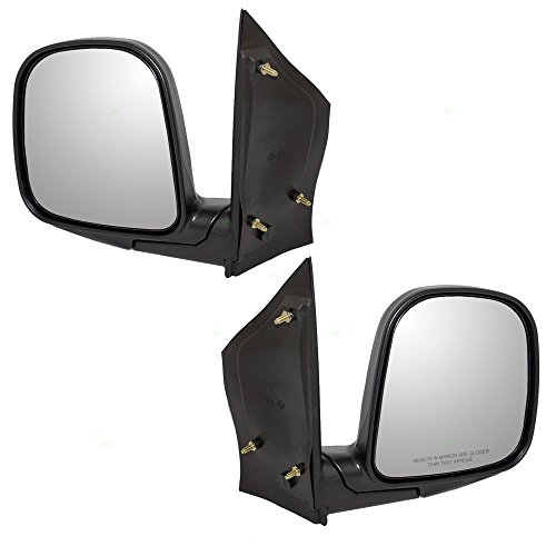 Driver and Passenger Manual Side View Mirrors Sail Mounted Textured Replacement for Chevrolet GMC Van 15768763 15768765 - Express 2001 Chevrolet 01 Van