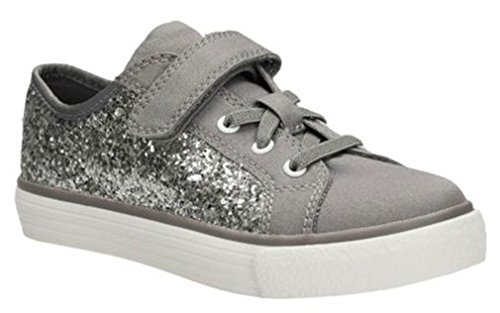 Price comparison product image Clarks Girl's BrillPrize Inf Silver Sneakers 12.5 M