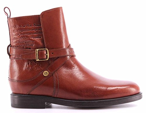 Chaussures Femmes Bottes LA MARTINA L2182107 Cuero Papaya Ankle Boots Made Italy