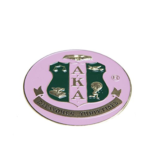 (New Alpha Kappa Alpha Sorority Round Car Tag Badge)