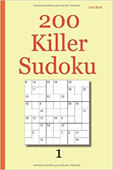 Book By Lea Rest 200 Killer Sudoku 1