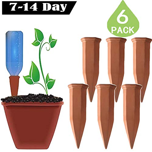 (Plant Self Watering Spikes Automatic Terracotta Watering Stakes for Vacation Plant Watering Device Self Irrigation Watering System Perfect Plant Nanny for Indoor & Outdoor Plants)